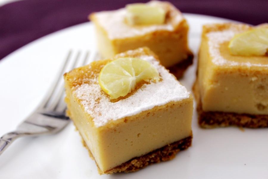 Lemon bars (eggless)