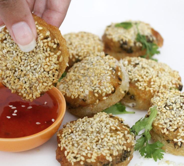 Sesame toasts